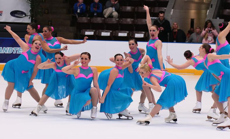 Synchronized skating Team Delaware blue dress