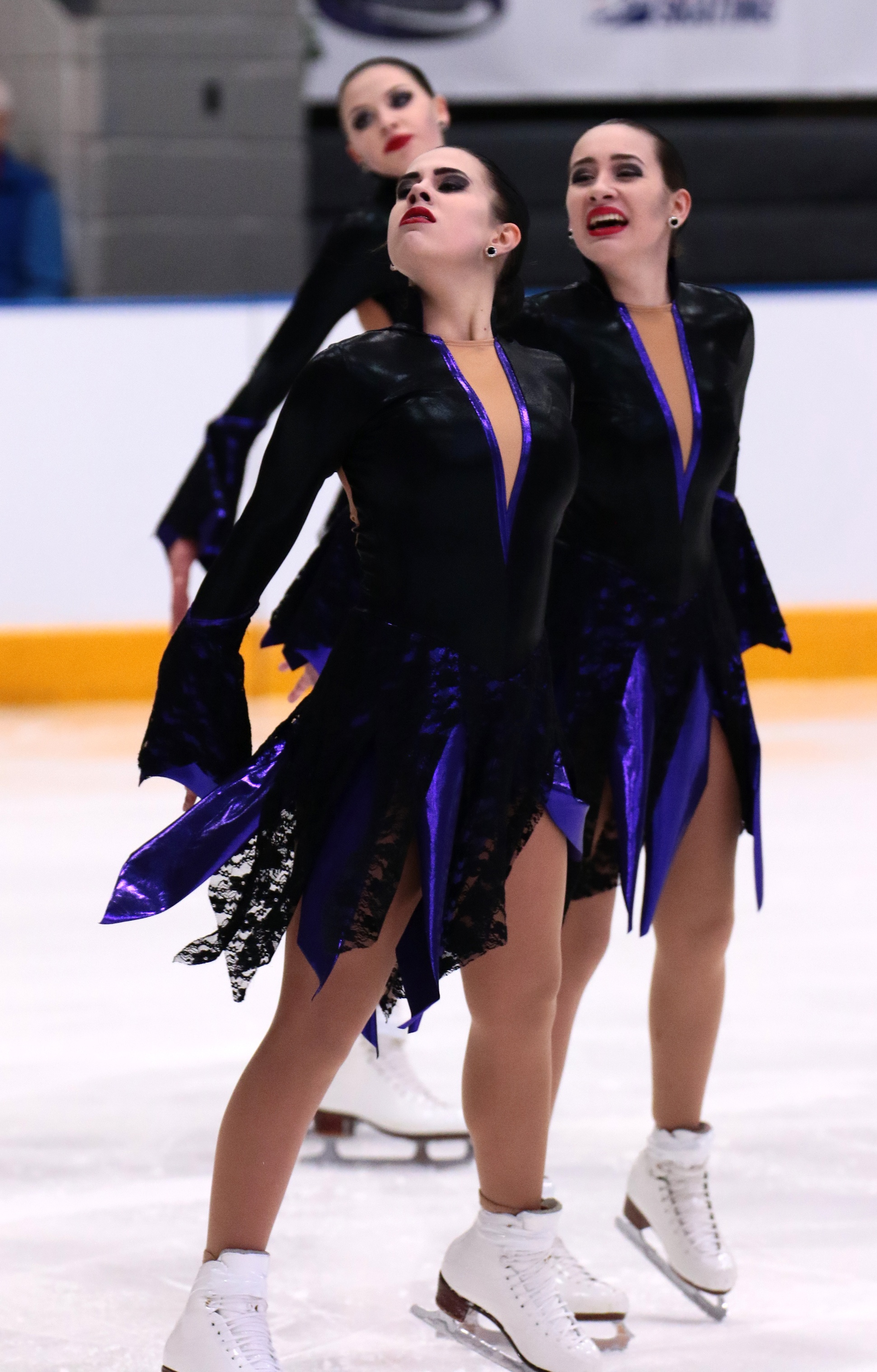 Adams Family or witch theme synchronized skating dress