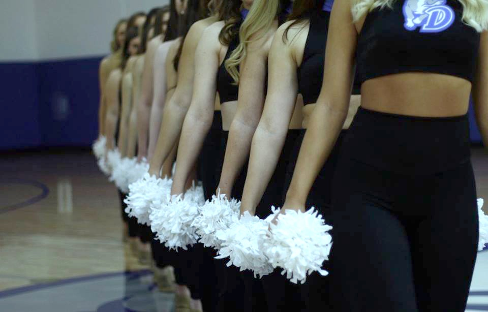 Drake University Dance Team Mock Crop Uniform