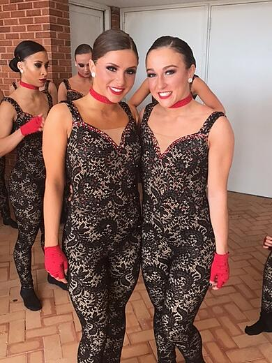 Louisville Ladybirds dance team lace unitard NDA 2017