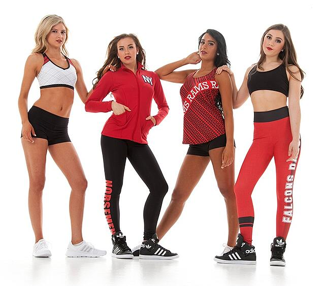 Dance team warm up and practice apparel trends