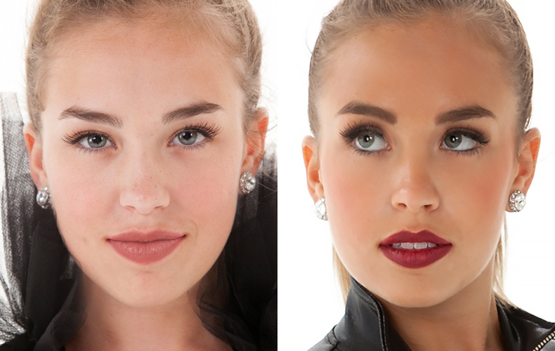 makeup example for dance team photoshoot