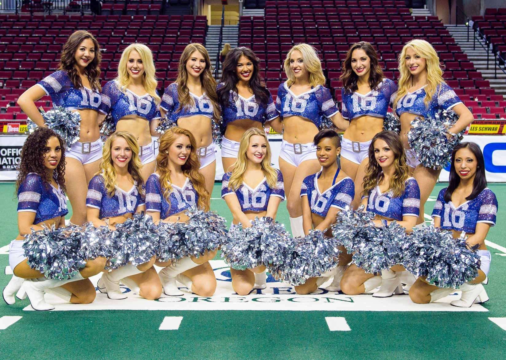 Portland Steel Cheerleaders wearing The Sparkle Jersey