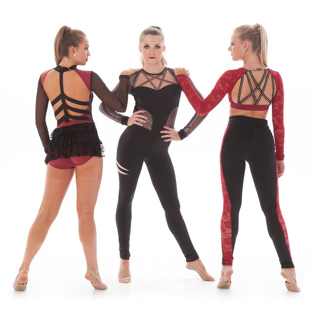 dance costume trend: strappy back
