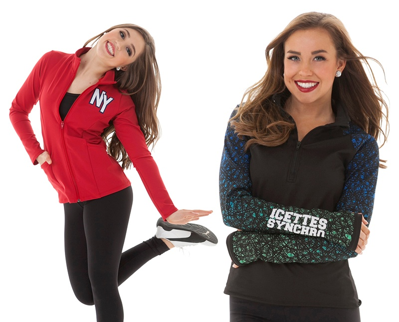 slim fit dance team warm up jacket