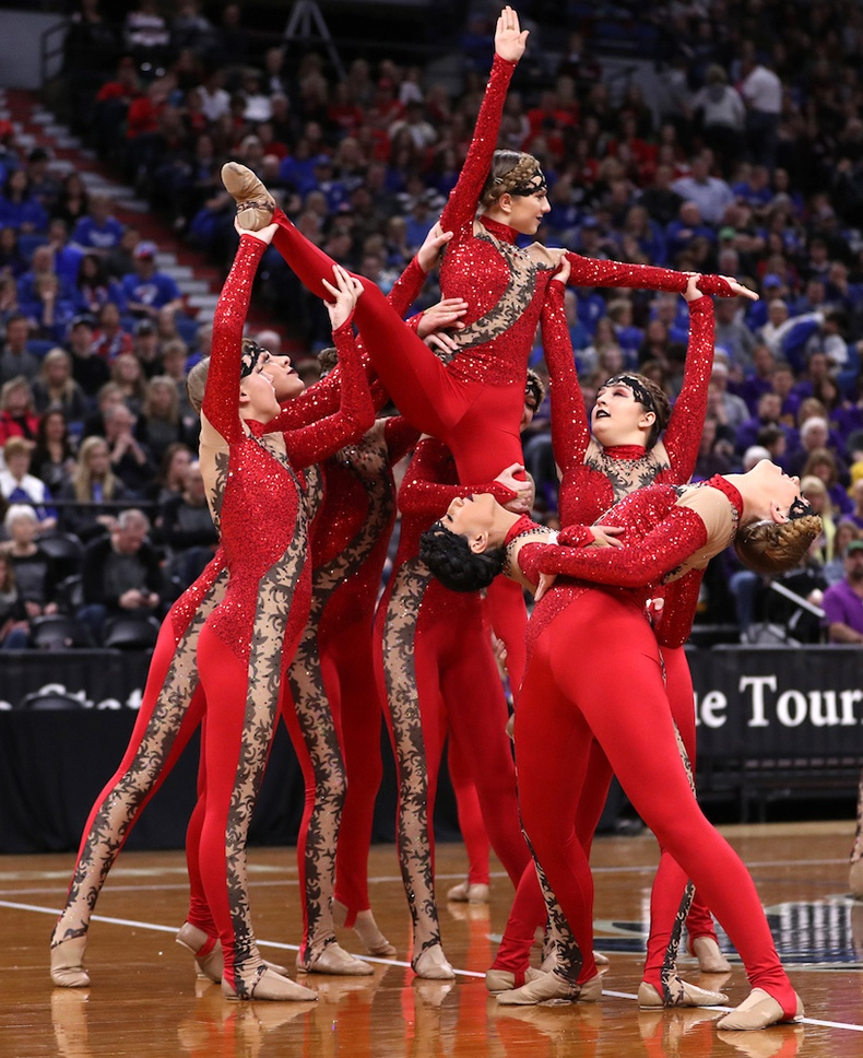 Totino Grace Fridley High School MN State 2017 High Kick.jpg