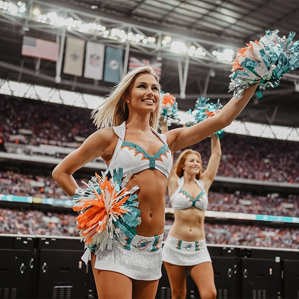 Miami Dolphins Cheerleaders new uniforms