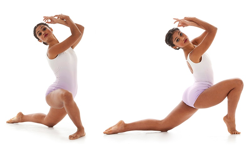pose on the toes for dance photography