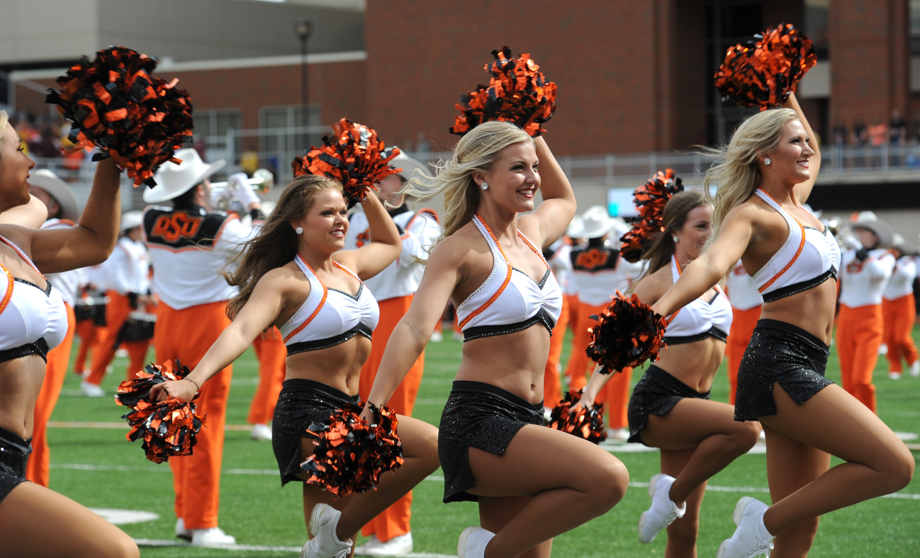 OSU Pom Squad in custom cheer uniforms