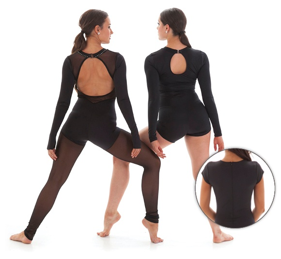 Dance costume back options