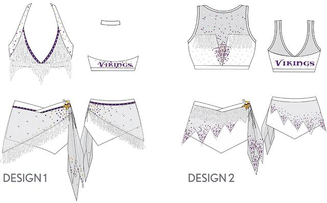 Minnesota Vikings Cheerleaders custom uniform designs