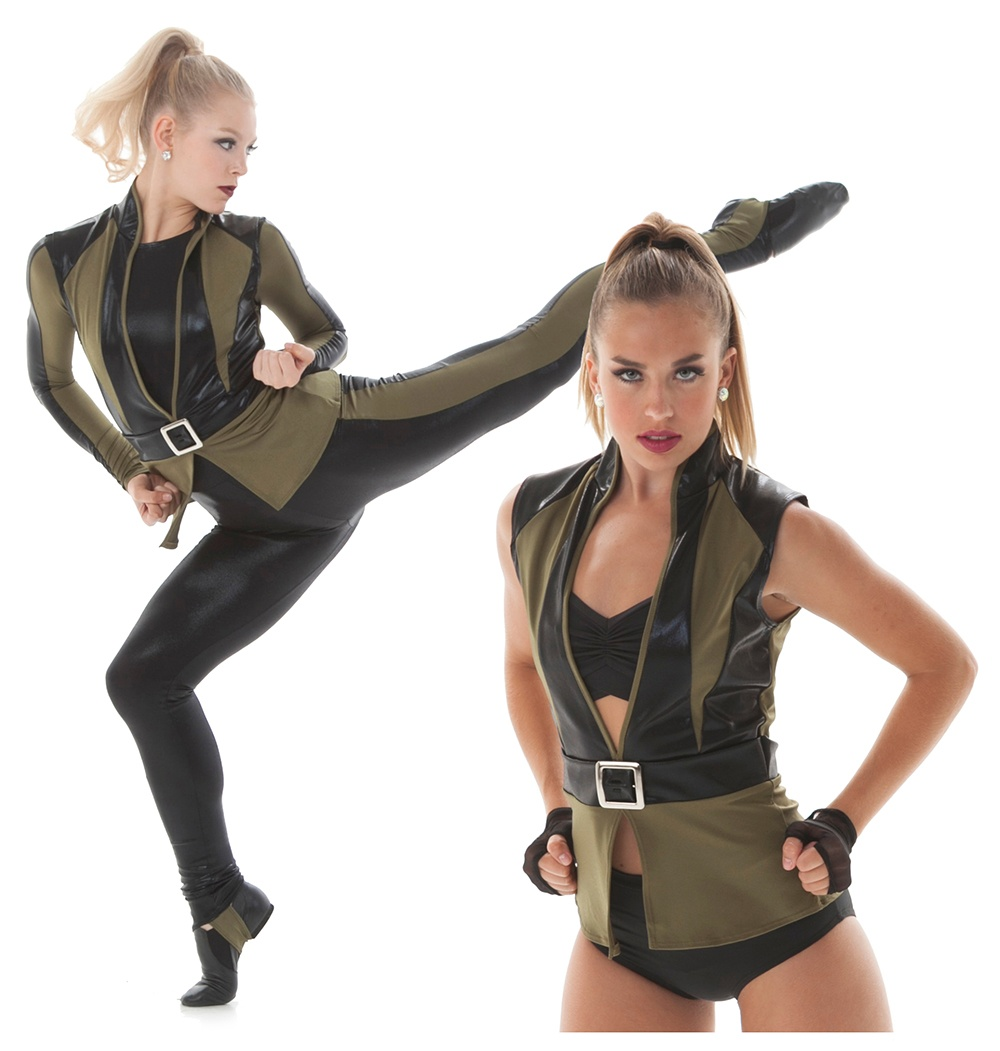 military and warrior theme dance costume