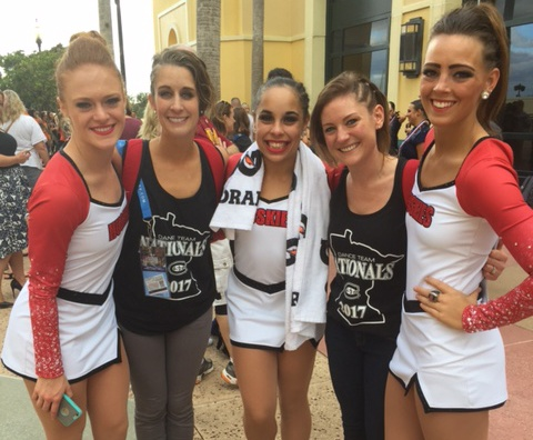 St Cloud State University dance team at 2017 UDA nationals