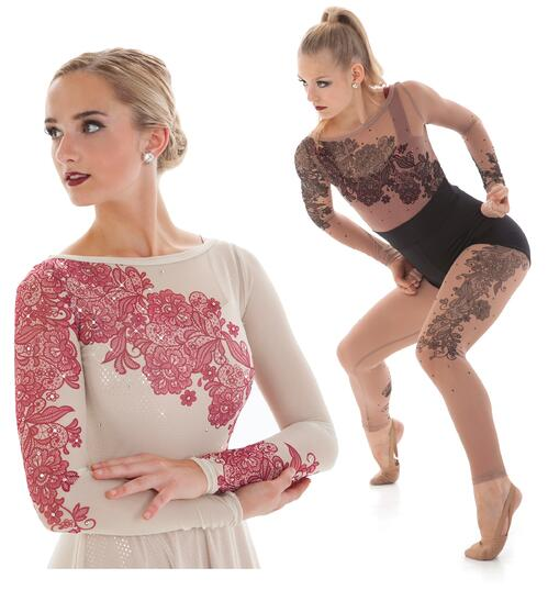 Dance costume trend 1: Chantilly mesh lace
