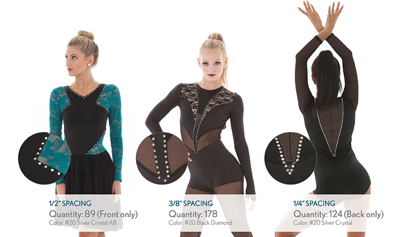 rhinestone estimating guide for dance costumes