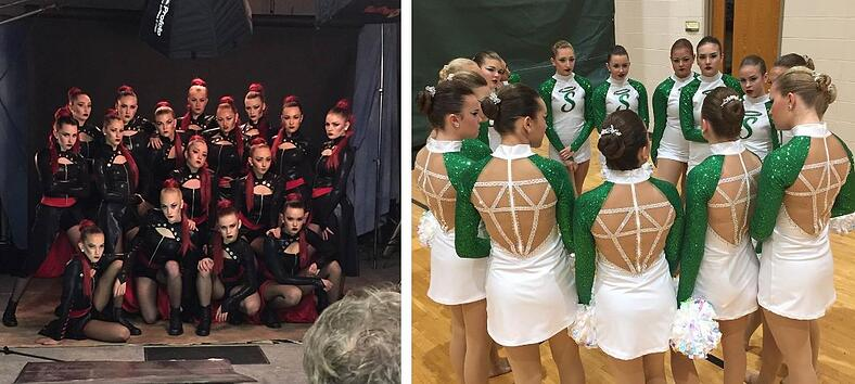 Seton varsity dance team custom dance costumes