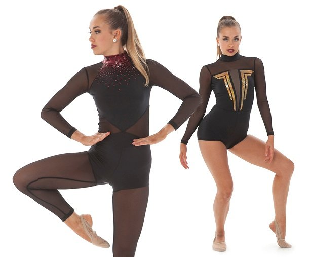 dance costumes with sequin designs