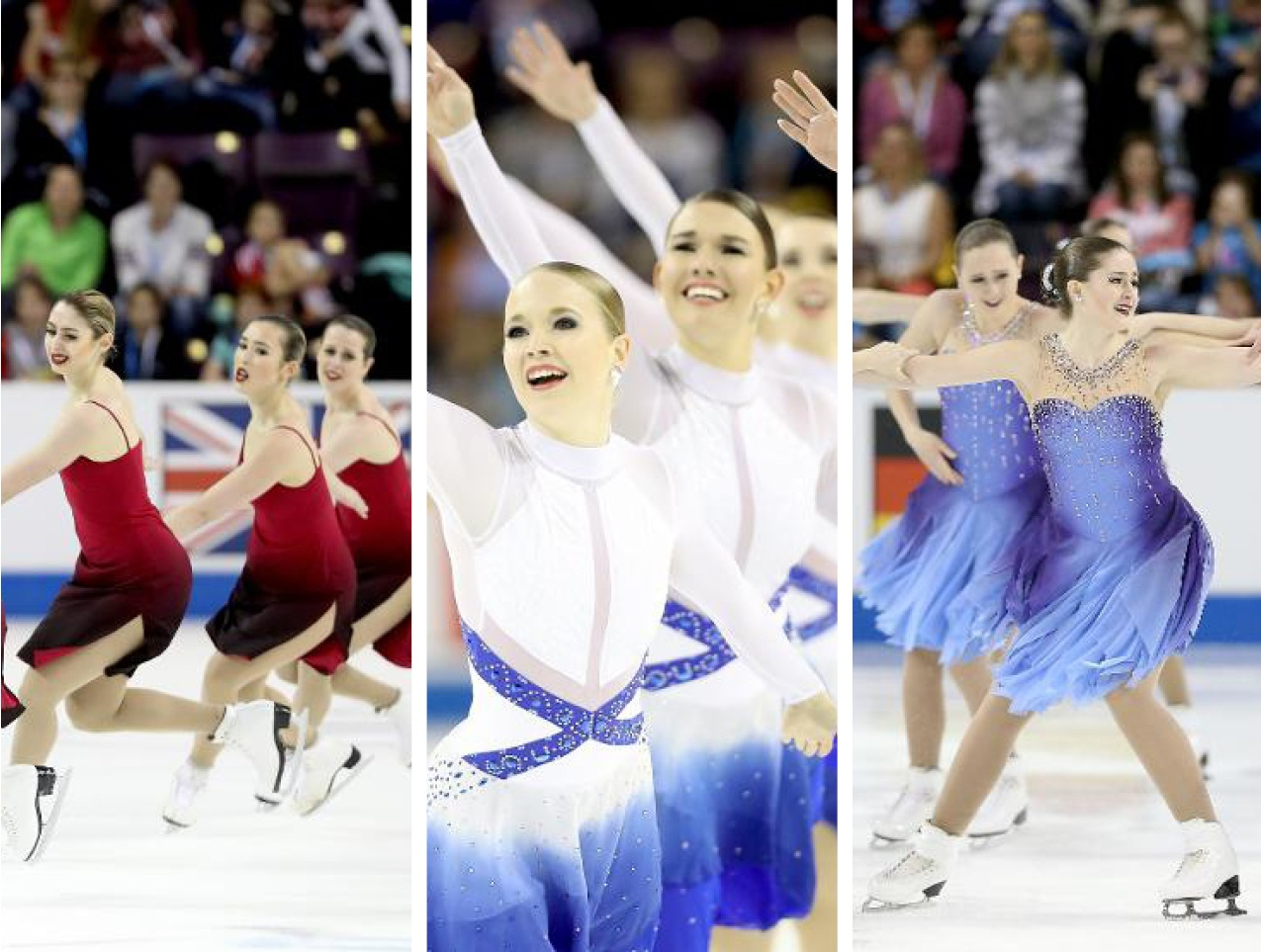 Synchronized skate dress trends - ombre gradient