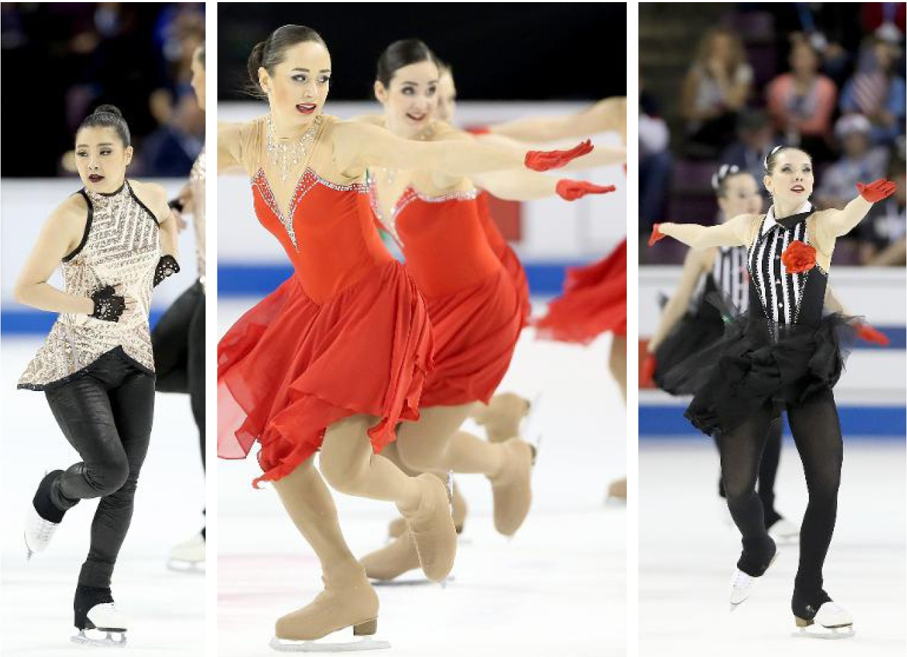 Synchronized skate dress trends - gloves and mitts
