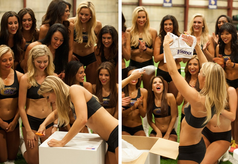 Vikings cheerleaders receive new white Ice uniform