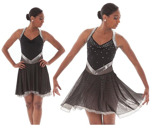 How to Rhinestone Skating Dress Before and After