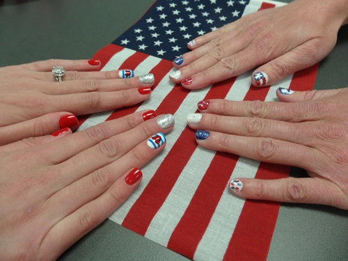 Even our nails are patriotic!