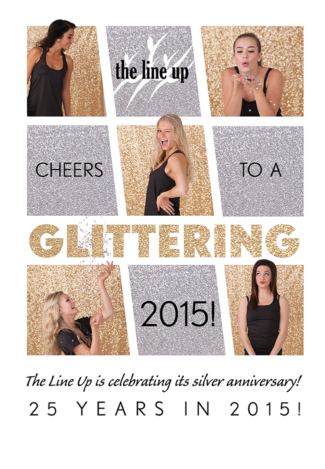 Happy New Year, glitter, The Line Up, 25 year anniversary, sparkle