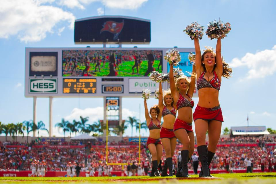 The Line Up - Tampa Bay Buccaneer Cheerleaders