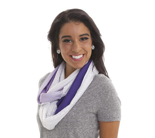 Infinity scarf Ombre Showstopper The Line Up Minnesota Vikings Cheerleaders uniform