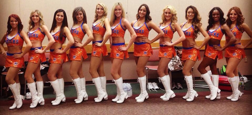 The Line Up Westchester Knicks Dancers Knicks gals 2014 new uniforms