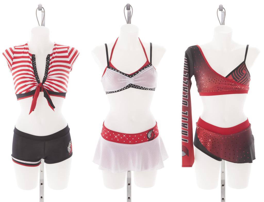 Portland Trailblazers uniforms, 2015, NBA dancers, The Line Up