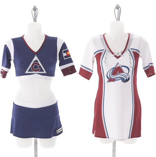 Colorado Avalanche Ice Girls Custom Uniform Top and Dress by The Line Up