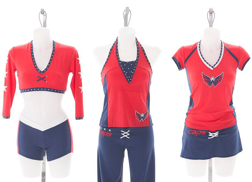 Washington Capitals Red Rockers Custom Uniforms by The Line Up