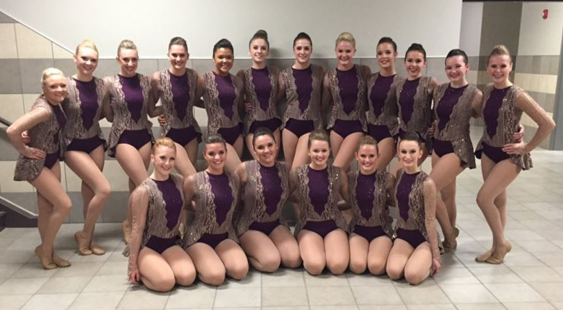 Prior Lake High School Jazz dark purple and tan costume from The Line Up