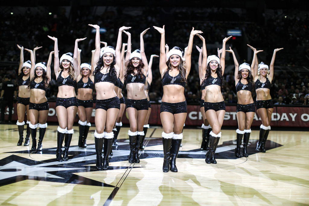 San Antonio Spurs Silver Dancers holiday dance costume