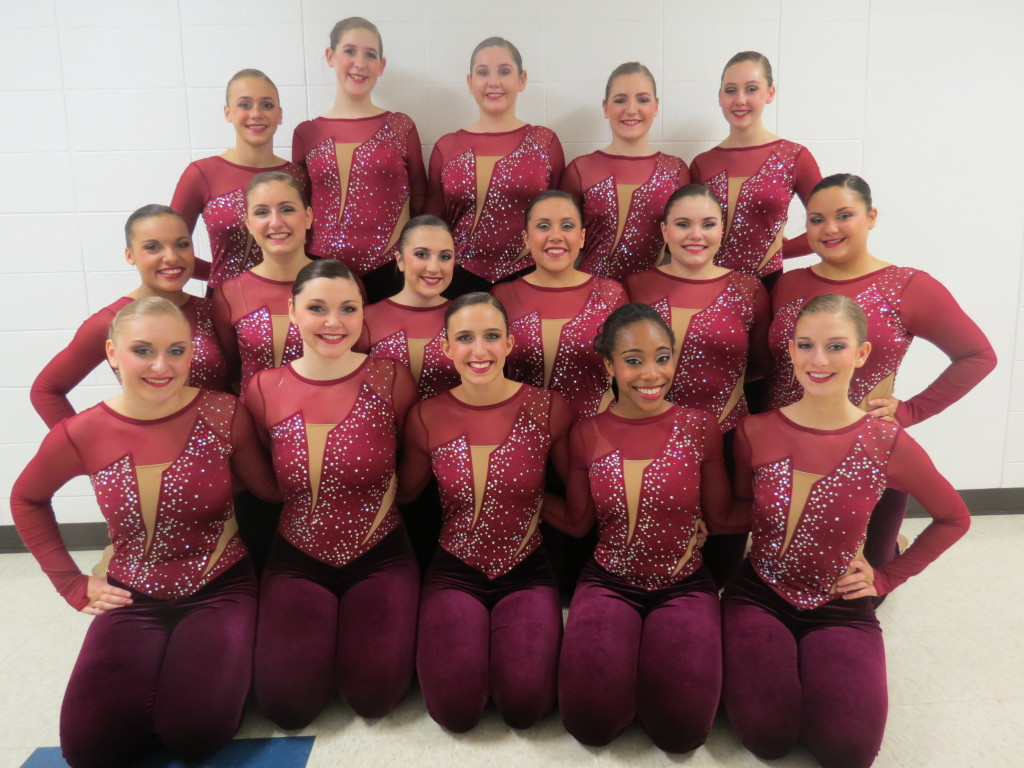 St Francis High Kick Custom burgundy unitard 2015-2016