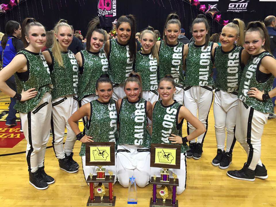 Waterloo dance team hip hop costume, first place