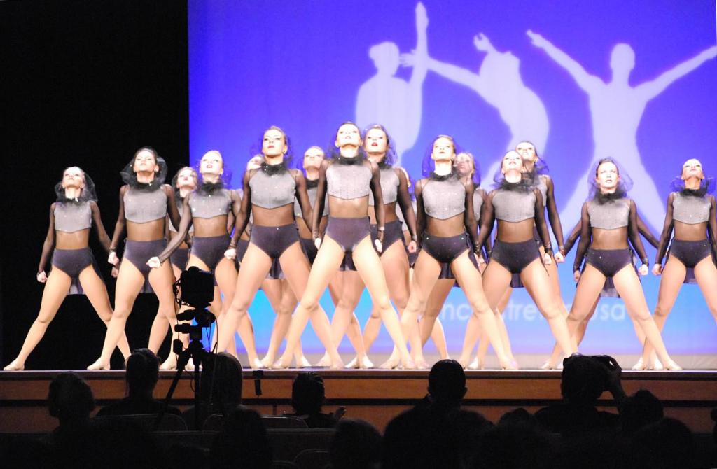 West Fargo, DX Nationals, Dance team, best costume, The Line Up, Grey, mesh hood, dance costume, edgy