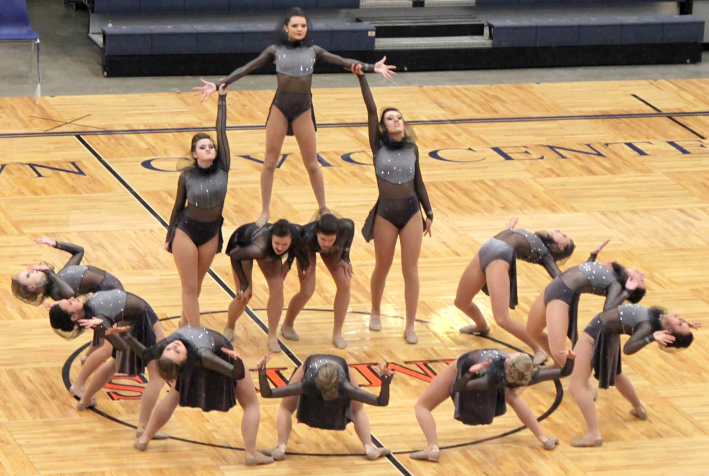 West Fargo, DX Nationals, Dance team, best costume, The Line Up, Grey, mesh hood, dance costume, edgy