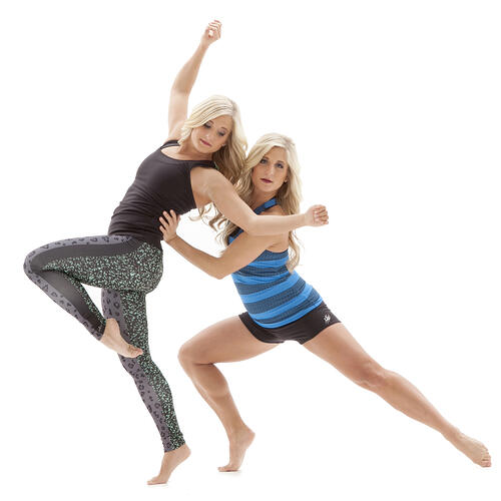 Innovate Dance, Karl Mundt, The Line Up, 575-22 leggings, custom tank, twins, Saunders twins