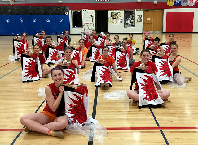 Hortonville Flame Pom Uniform by The Line Up