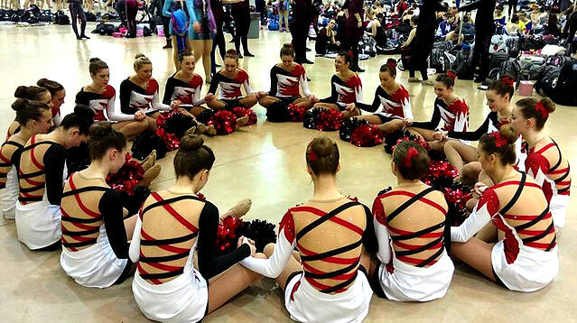 Hortonville Flame Pom Dress by The Line Up