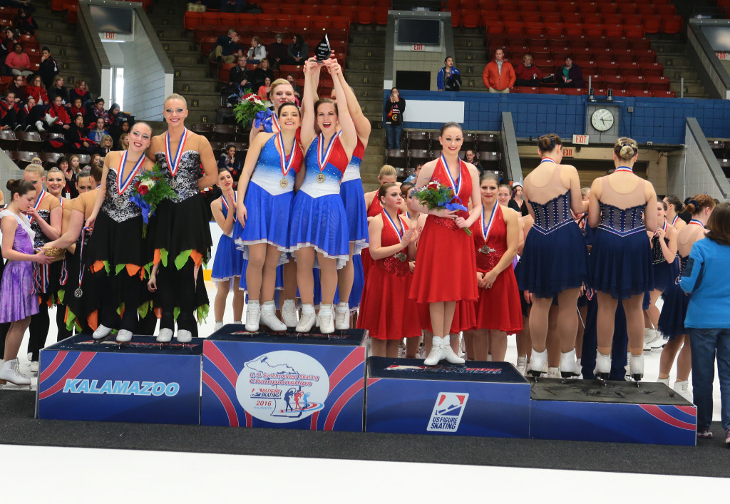 Miami of ohio collegiate free skate red white and blue dresses