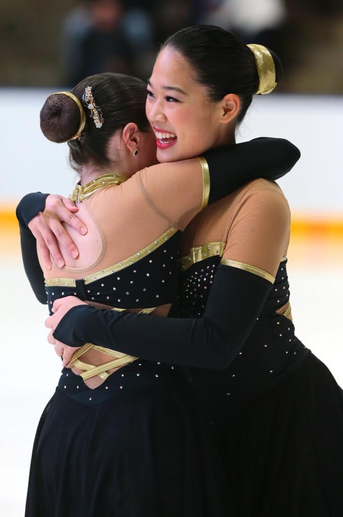 Team Delaware Jr Free Skate black and gold nationals 2016 dress synchronized skating