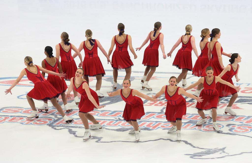 Team North Dakota synchronized skating nationals 2016