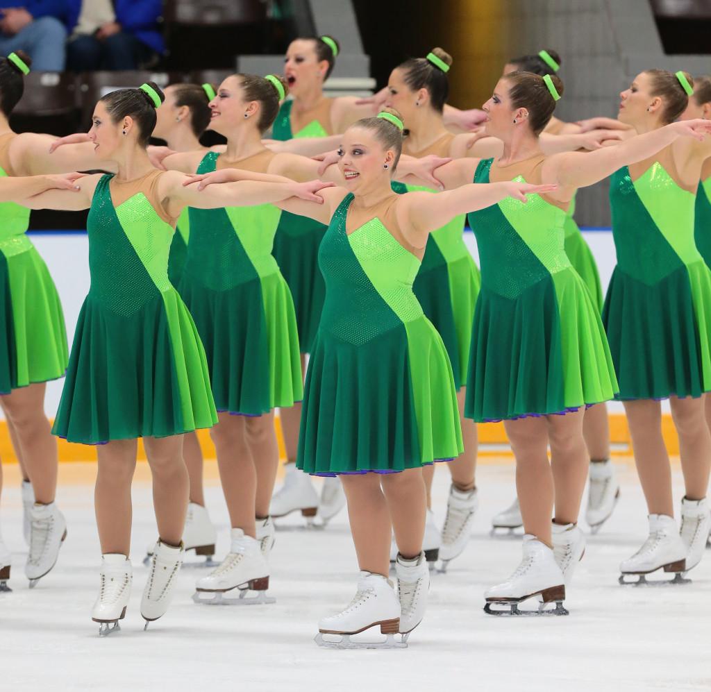 Denver Synchro Adult green dress 2016 nationals