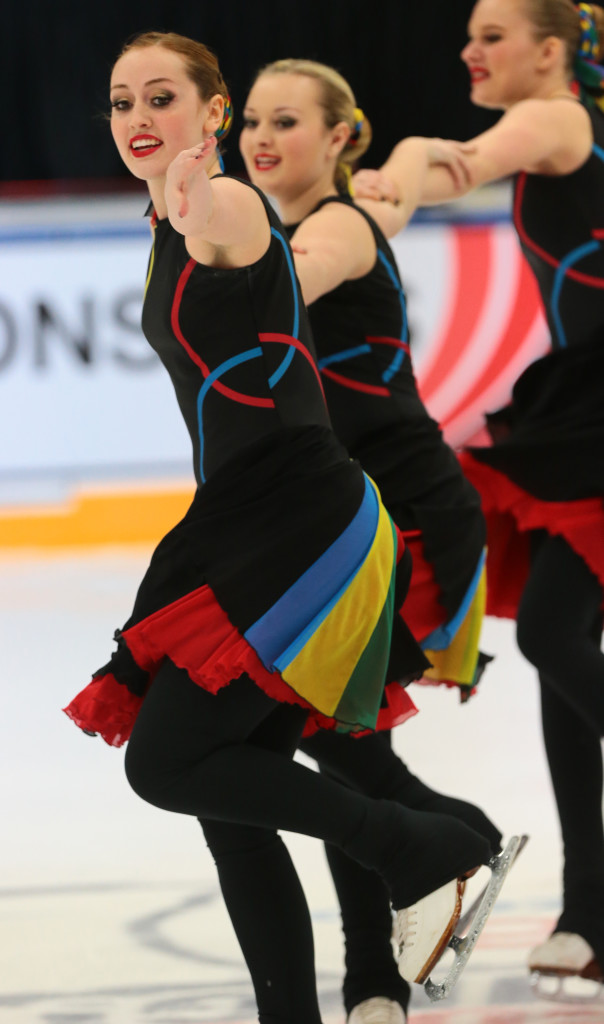 Capitol Ice Chips Intermediate Olympic rings dress 2016 nationals