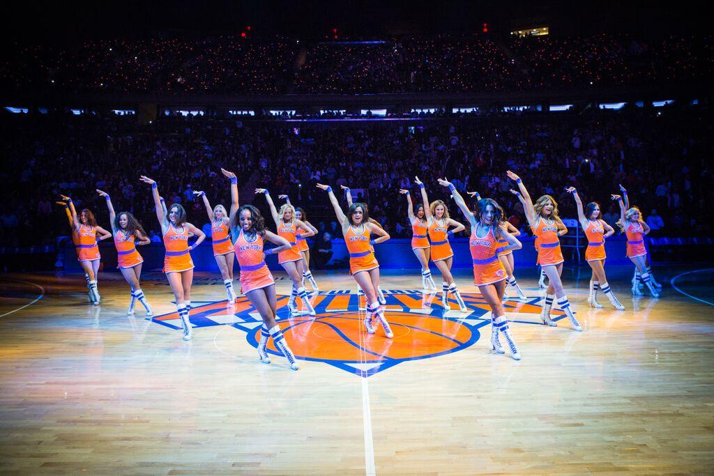 Knicks City Dancer Orange Uniform, The Line Up, 2015, Trainwreck