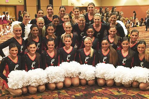 University of Cincinnati dance team Pom Dress by The Line Up