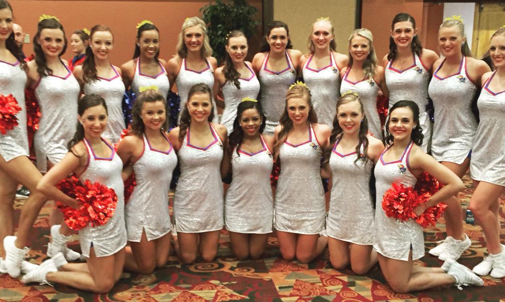 University of Kansas Rock Chalk Dancers game day uniform Dress by The Line Up